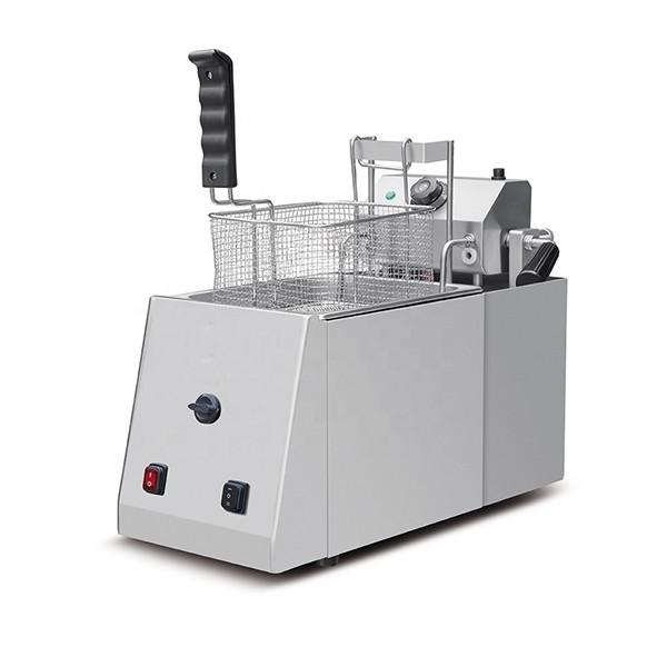 Automatic French Fries Potato Chips Fryer Snack Food Frying Machine #1 image